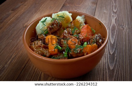 Swedish Kalops - traditional beef stew slow simmered with vegetables.