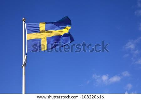 Swedish National Flag - stock photo