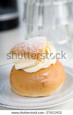 Swedish pastry - stock photo