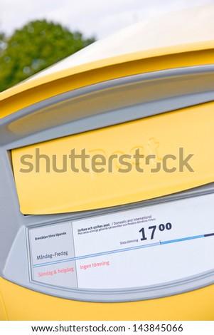 Swedish post box - stock photo