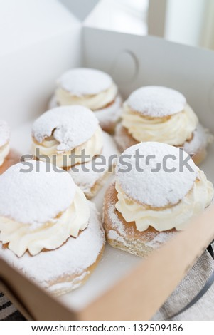 Swedish semla - stock photo