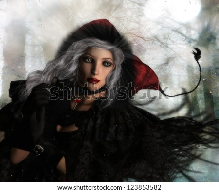 Swedish witch Hax Ande holding a magical black cat.