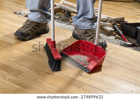 Sweeping Floor - stock photo