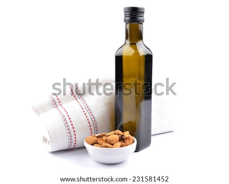 Sweet almond oil - stock photo