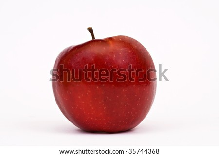 Sweet and beautiful red apple