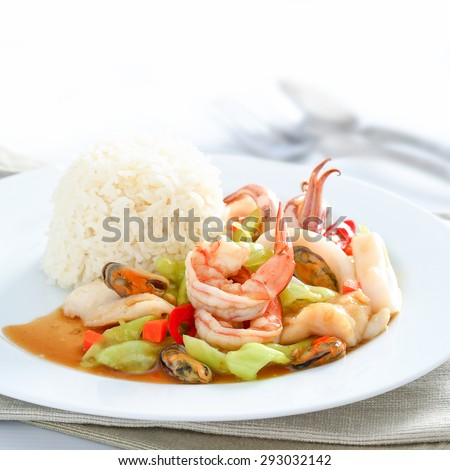 Sweet and Sour with Shrimps - stock photo