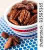Sweet and Spicy Roasted Nuts Party Mix - stock photo