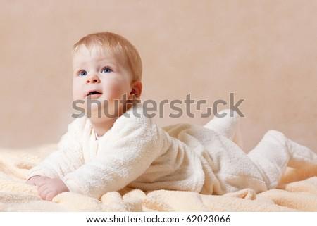 Sweet baby boy - stock photo