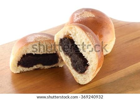 sweet bean paste bun - stock photo