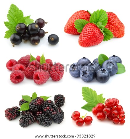 Sweet berries: strawberry, blackberry,blueberry,red currant,raspberry,black currant