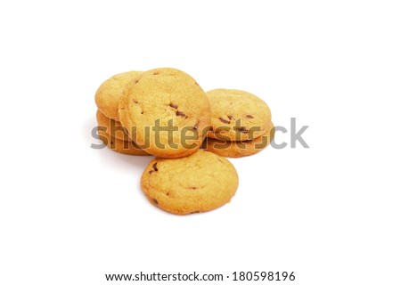 Sweet biscuits on white background. - stock photo