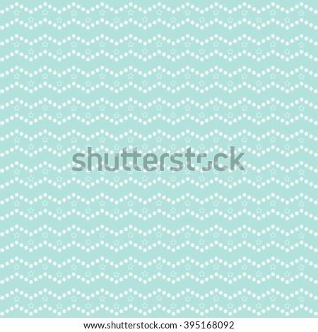 Sweet blue Geometric Stars Pattern.  - stock photo