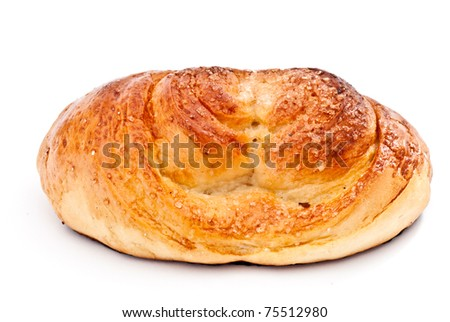sweet bun isolated on a white background