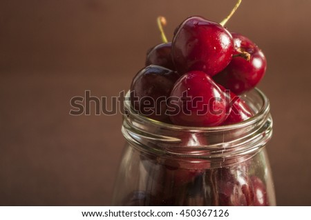 Sweet cherries as a background/ full frame