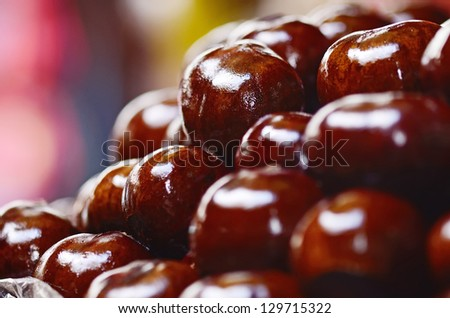 Sweet chestnuts in the Grocery