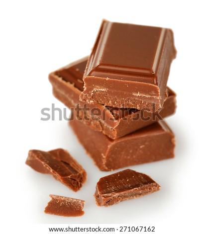 Sweet chocolate isolated on white - stock photo