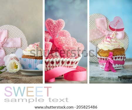 Sweet collage - stock photo