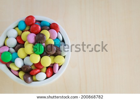 sweet color candy on the vase - stock photo