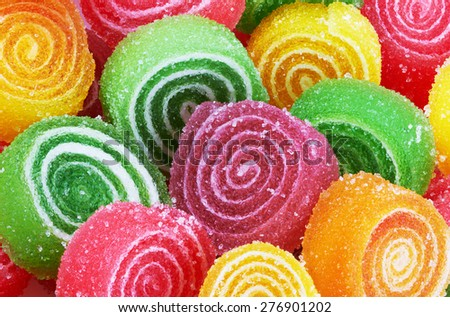 Sweet colorful candy. Close-up - stock photo