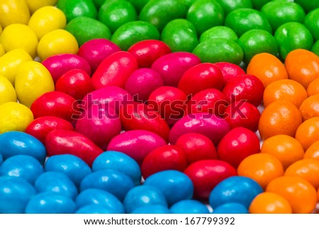 Sweet colorful candy. Close-up of colorful candy - stock photo
