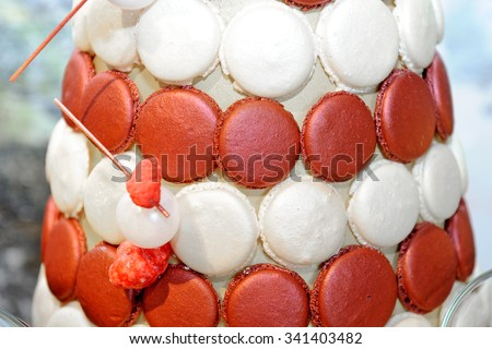 Sweet colorful macaroons - stock photo