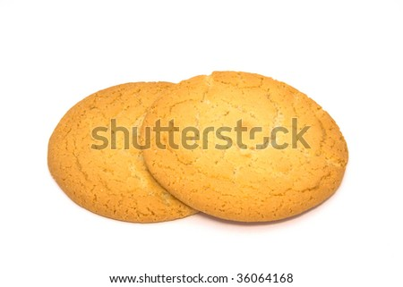 Sweet cookies isolated on white - stock photo