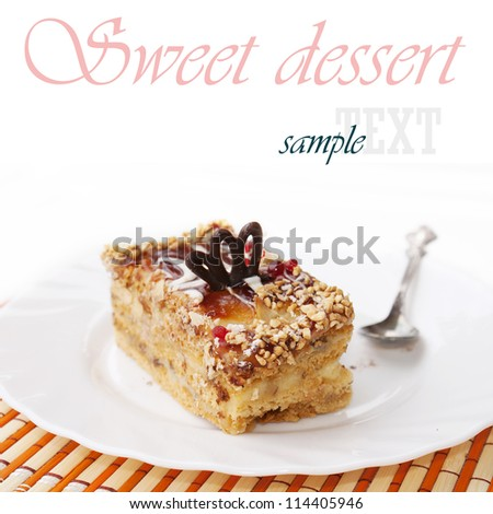 Sweet creative biscuit - stock photo