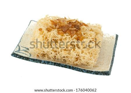 Sweet crispy noodles - stock photo