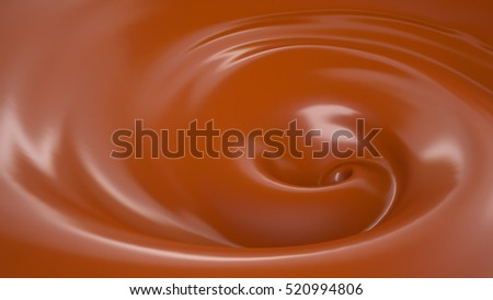 Sweet, delicious, caramel, chocolate background. 3d illustration, 3d rendering.