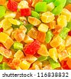 sweet dried fruits - stock photo