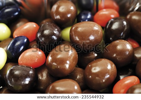 Sweet easter eggs, close-up - stock photo