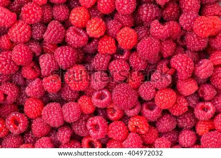Sweet fresh raspberry fruit - stock photo