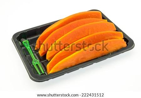 Sweet fruit platter served. - stock photo
