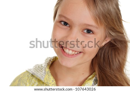 Sweet girl showed herself in the photos in all her glory - stock photo
