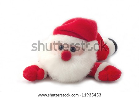 Sweet little santa-claus isolated on a white background