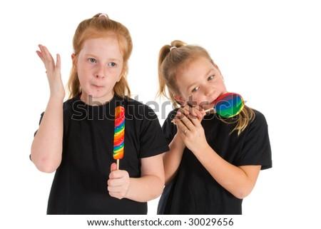 Sweet lollipops for the little girls - stock photo