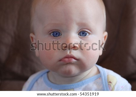 Sweet 6 month old Baby Boy taken closeup