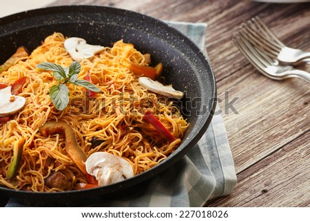 Sweet noodles - stock photo