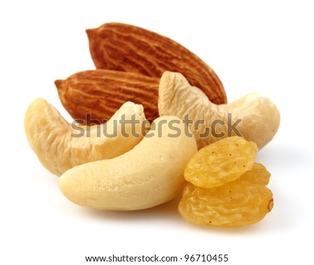 Sweet nuts and fruit - stock photo