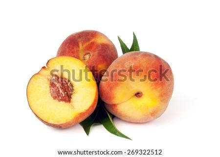 sweet peaches - stock photo
