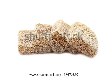 sweet peanut cake with sesame seed