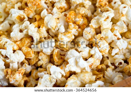 sweet popcorn - stock photo