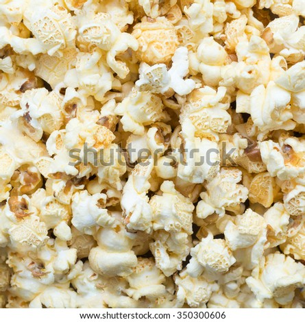 Sweet popcorn flavor for sale in the cinema. - stock photo