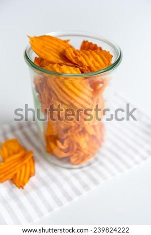 Sweet Potato Chips - stock photo