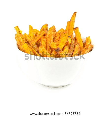 Sweet potato fries - stock photo