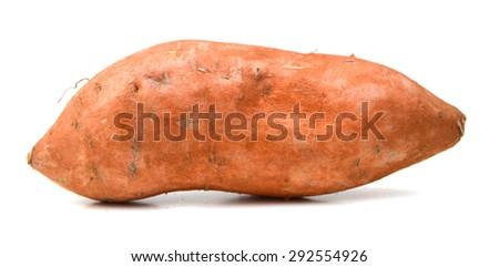 Sweet potato over a white background - stock photo