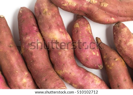 Sweet Potato Root isolated on white background