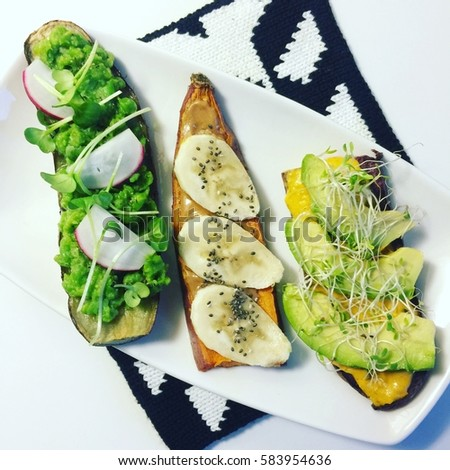 Sweet potato toast / Toast party / Organic Food