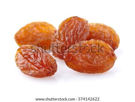 Sweet raisins in closeup - stock photo