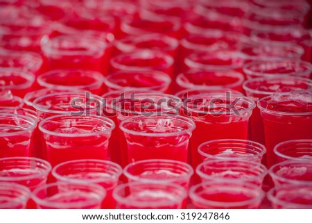 Sweet red drink soda refreshments.  - stock photo